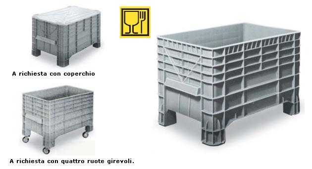 contenitori in plastica sovrapponibili cassoni in