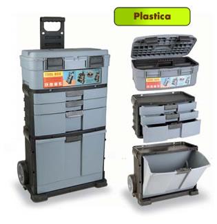 Carrelli portautensili in plastica e cassette - Cassetta porta attrezzi stanley con ruote ...